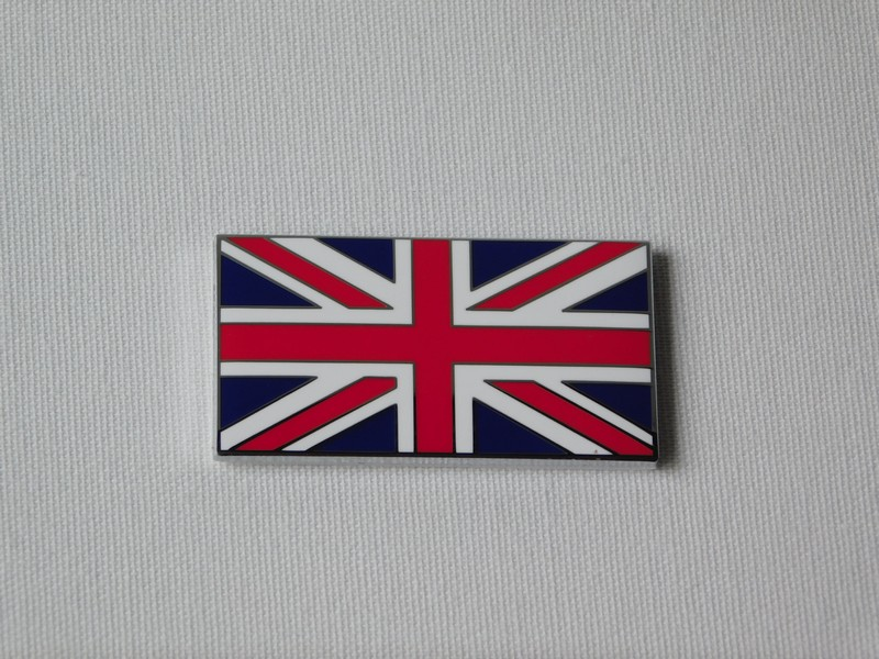 Enamel On Metal Union Jack Badges